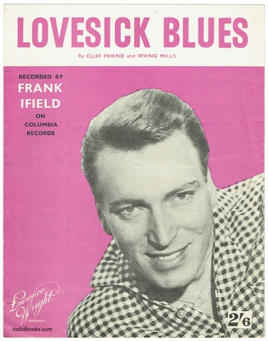 Image for Lovesick Blues: Recorded by Frank Ifield