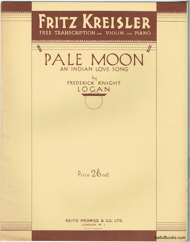 Image for Pale Moon: An Indian Lovesong (Fritz Kreisler Free Transcription For Violin And Piano)