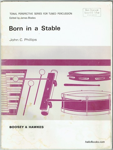 Image for Born In A Stable: Full Score and Parts (Tonal Perspective Series For Tuned Percussion).