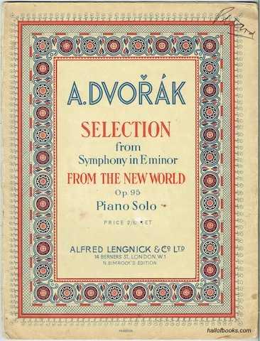 Image for Selection from Symphony in E minor: From The New World. Op. 95, Piano Solo