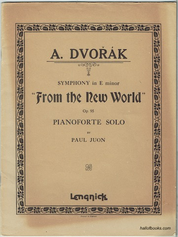 Image for Symphony in E minor: From The New World. Op. 95, Piano solo
