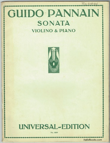 Image for Sonata per Violino e Pianoforte (Universal Edition No. 8809)