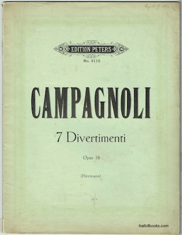 Image for 7 Divertimenti Op. 18. Sept Divertissements pour Violon Compose Pour L'Exercise Des Sept Principales Positions (Edition Peters No. 3115)