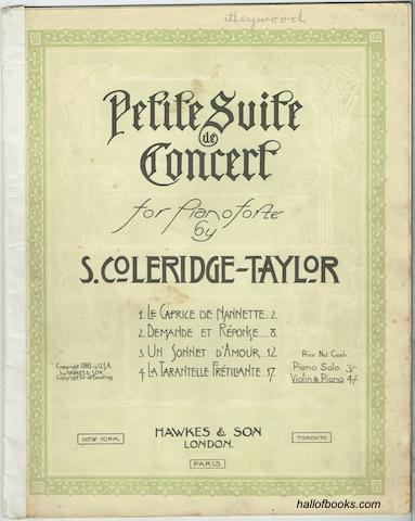 Image for Petite Suite De Concert for Violin and Piano