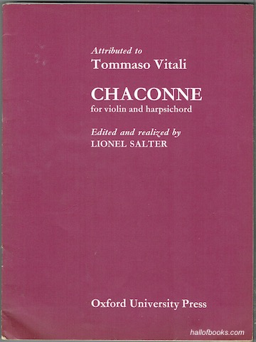 Image for Chaconne for Violin and Harpsichord