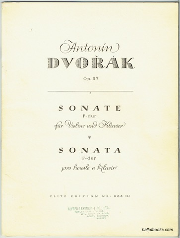 Image for Op. 57 Sonate F dur, Fa majeur, F major: Violin & Piano (Elite Edition Nr. 685)