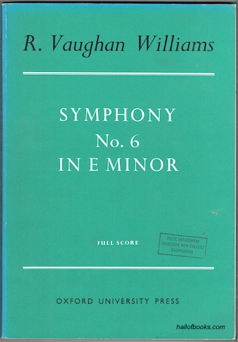 Image for Symphony No. 6 In E Minor. Study Score