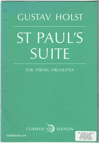 Image for St. Pauls Suite For String Orchestra (Curwen Edition)