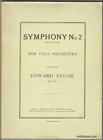 Image for Symphony No. 2 (In E Flat) For Full Orchestra Op. 63. Study Score