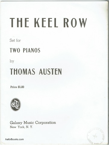 Image for The Keel Row Set For Two Pianos