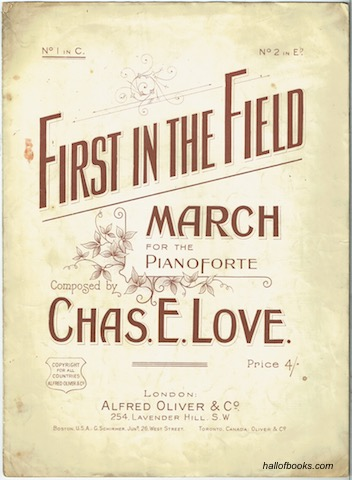 Image for First In The Field: March For The Pianoforte. No. 1 In C.