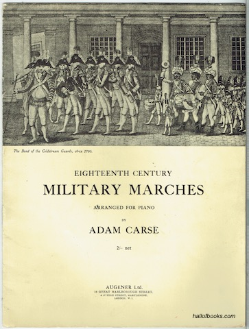 Image for Eighteenth Century Military Marches Arranged For Piano By Adam Carse