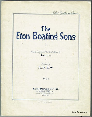 Image for The Eton Boating Song