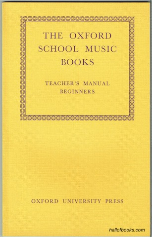 Image for Teacher's Manual: Beginners (The Oxford School Music Books.)