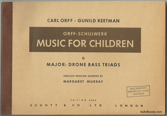 Image for Music For Children II. Major: Drone Bass - Triads (Edition 4866)