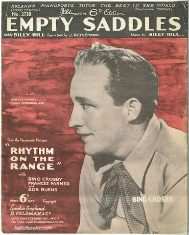 Image for Empty Saddles, From The Paramount Picture Rhythm On The Range
