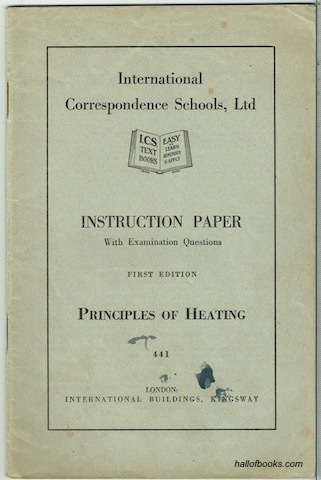 Image for Instruction paper With Examination Questions: Principles Of Heating (First Edition)