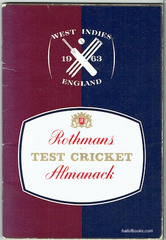 Image for Rothmans Test Cricket Almanack: West Indies v. England 1963