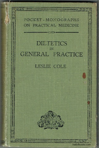 Image for Dietetics In General Practice (Pocket-Monographs On Practical Medicine)