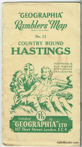 "Image for ""Geographia"" Ramblers' Map No. 11: Country Round Hastings"