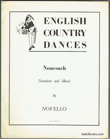 Image for English Country Dances: Nonesuch. Notation And Music