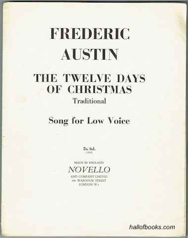 Image for The Twelve Days Of Christmas: Traditional Song For Low Voice