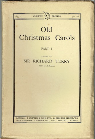 Image for Old Christmas Carols. Part I (Curwen Edition 6337)