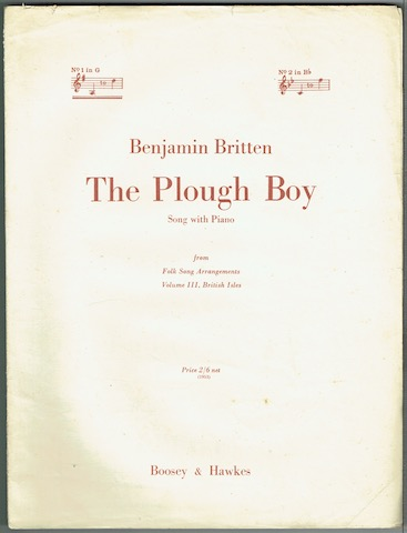 Image for The Plough Boy: Song With Piano. No. 1 in G