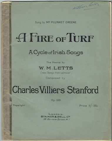 Image for A Fire Of Turf: A Cycle Of Irish Songs: The Poems By W. M. Letts (From Songs From Leinster) Op. 139.