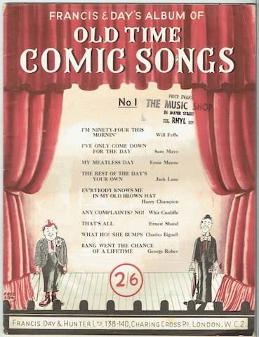 Image for Francis & Day's Album Of Old Time Comic Songs No. 1