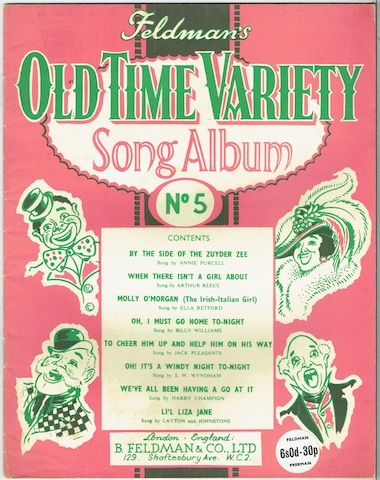 Image for Feldman's Old Time Variety Song Album No. 5