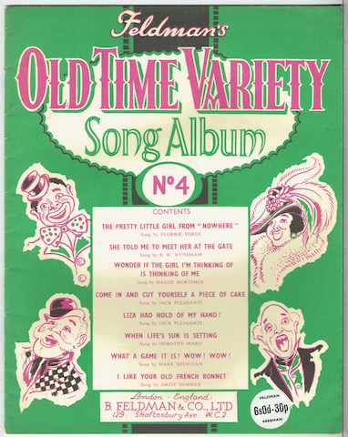 Image for Feldman's Old Time Variety Song Album No. 4