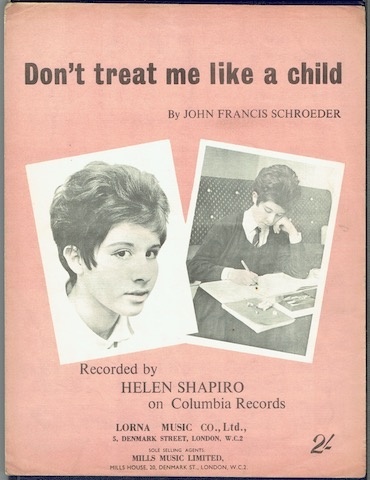 Image for Don't Treat Me Like A Child: Recorded By Helen Shapiro