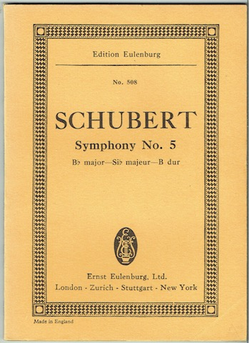 Image for Symphony No. 5, B flat major. Edition Eulenburg No. 508