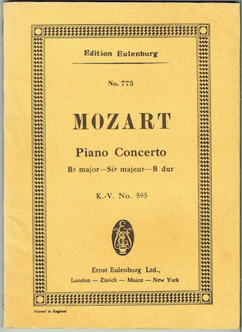 Image for Concerto B Flat Major For Pianoforte And Orchestra, K-V. No. 595, With Mozart's Cadenzas. (Edition Eulenburg No. 775)