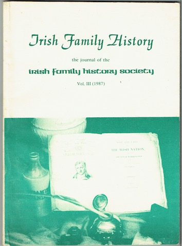 Image for Irish Family History: The Journal Of The Irish Family History Society. Vol. III (1987)