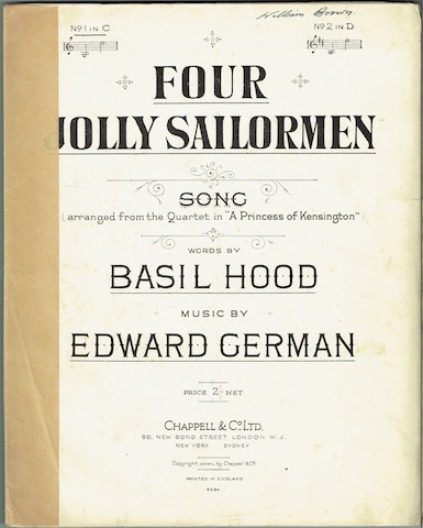 Image for Four Jolly Sailormen, No. 1 in C. (Song Arranged From The Quartet in 'A Princess Of Kensington').