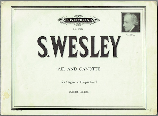 Image for Air And Gavotte For Organ Or Harpsichord
