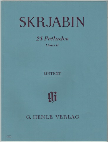 Image for 24 Preludes, Opus II. Urtext