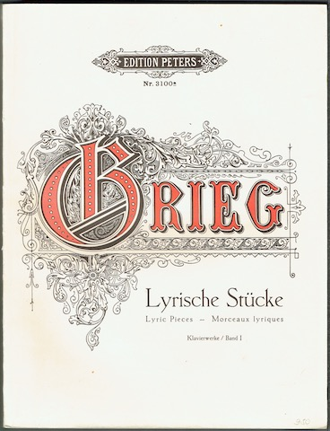 Image for Klavierwerke Band I: Lyrische Stucke, Lyric Pieces, Morceaux Lyriques (Edition Peters Nr. 3100a)