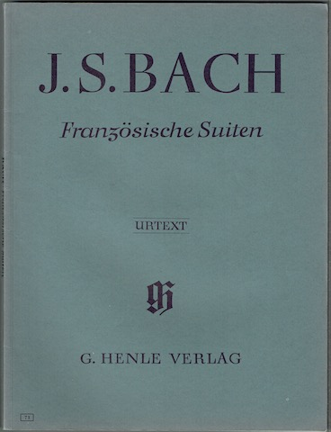 Image for Franzosische Suiten. Urtext