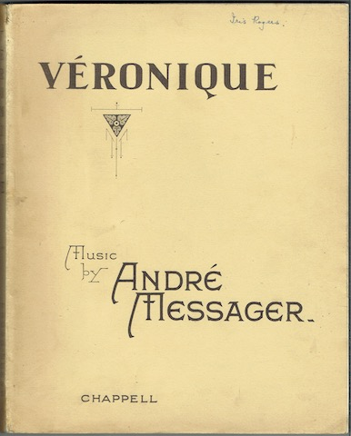 Image for Veronique: Comic Opera In Three Acts. Vocal Score