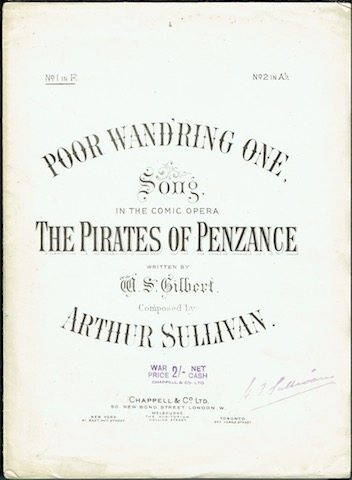 "Image for Poor Wand'ring One: Song In The Comic Opera ""The Pirates Of Penzance"" No. 1in F"