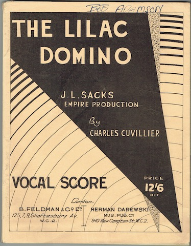 Image for The Lilac Domino: A New And Original Operetta In Three Acts. Vocal Score