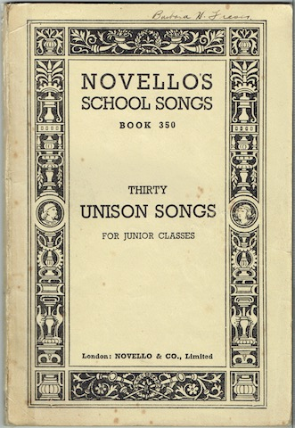 Image for Thirty Unison Songs For Junior Classes By Modern Composers: Novello's School Songs, Book 350