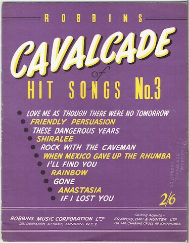 Image for Robbins Cavalcade Of Hit Songs No. 3
