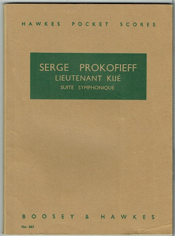 Image for Lieutenant Kije: Suite Symphonique Op. 60 (Hawkes Pocket Scores No. 663)
