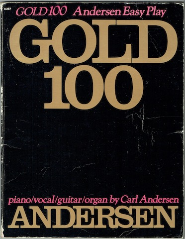 Image for Gold 100: Andersen Easy Play. Piano/Vocal/Guitar/Organ