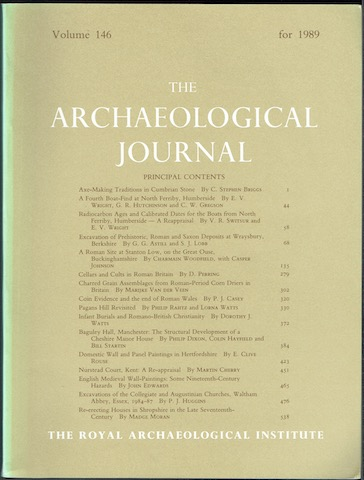 Image for The Archaeological Journal: Volume 146 For The Year 1989