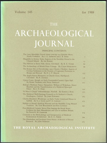 Image for The Archaeological Journal: Volume 145 For The Year 1988